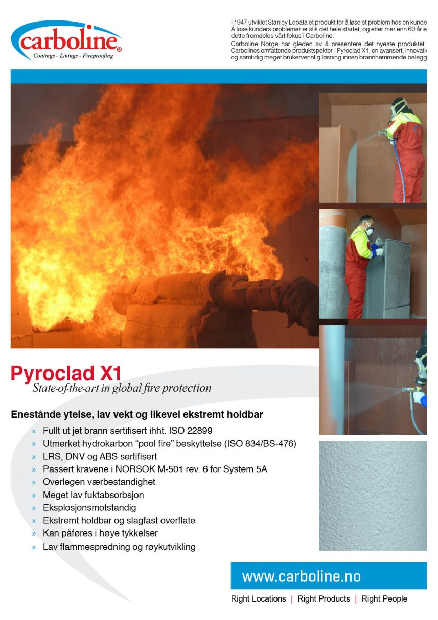Carboline Pyroclad X1 flyer